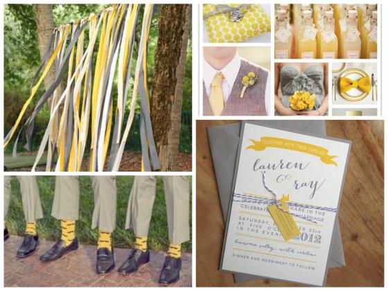 Yellow & Grey Wedding Day