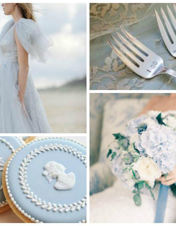 Powder Blue and Pewter Wedding