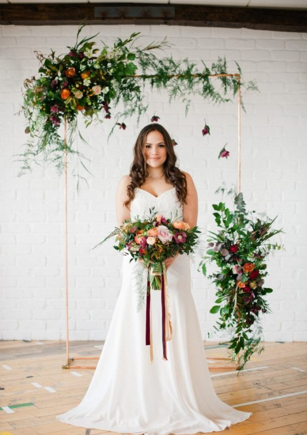 Glam Industrial mixed with Botanical Wedding Inspiration
