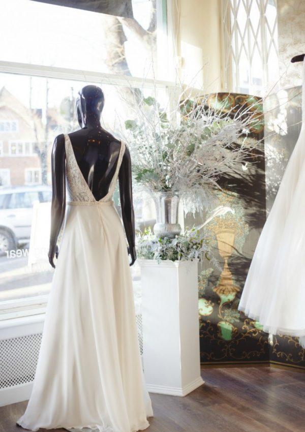 Winter Wonderland Installation for Blackburn Bridal Couture