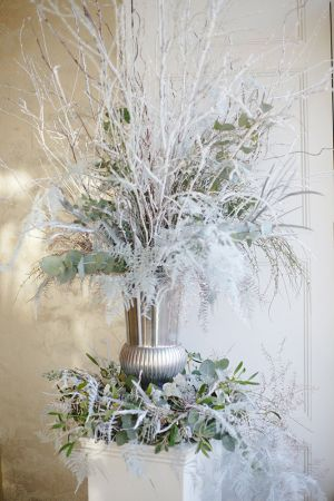 Styling and Events - Winter Window Installation for Blackburn Bridal