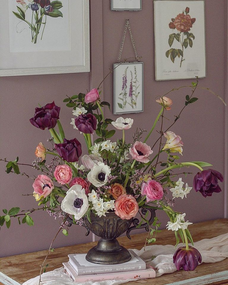 Spring Arrangement with Tulips and Anemones