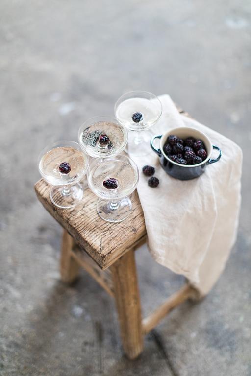 Blackberry cocktails