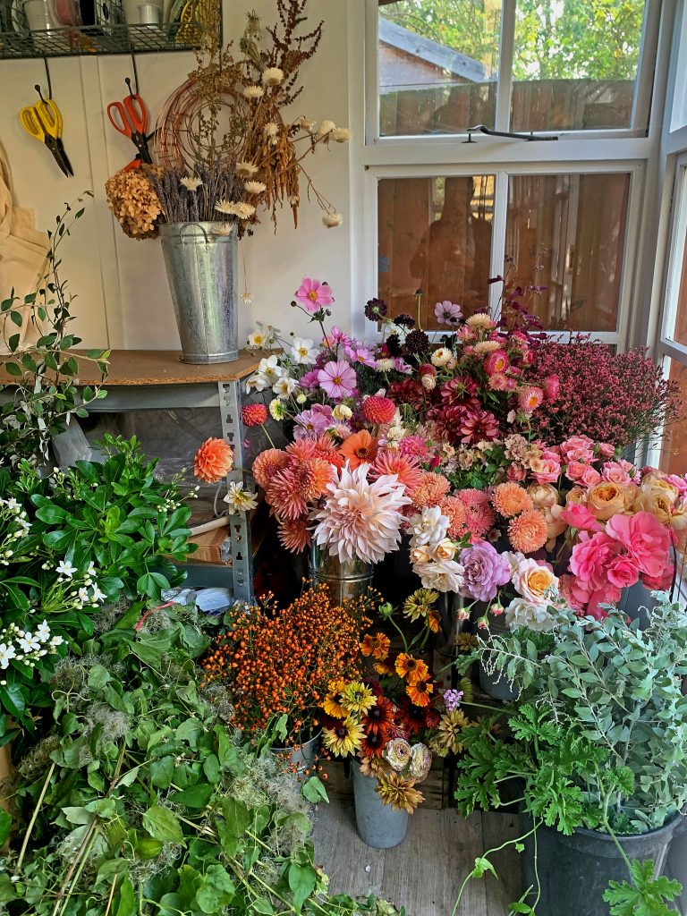 British blooms for a one to one workshop