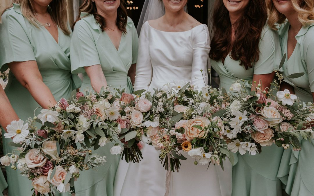 Blush blooms for an Intimate London Wedding