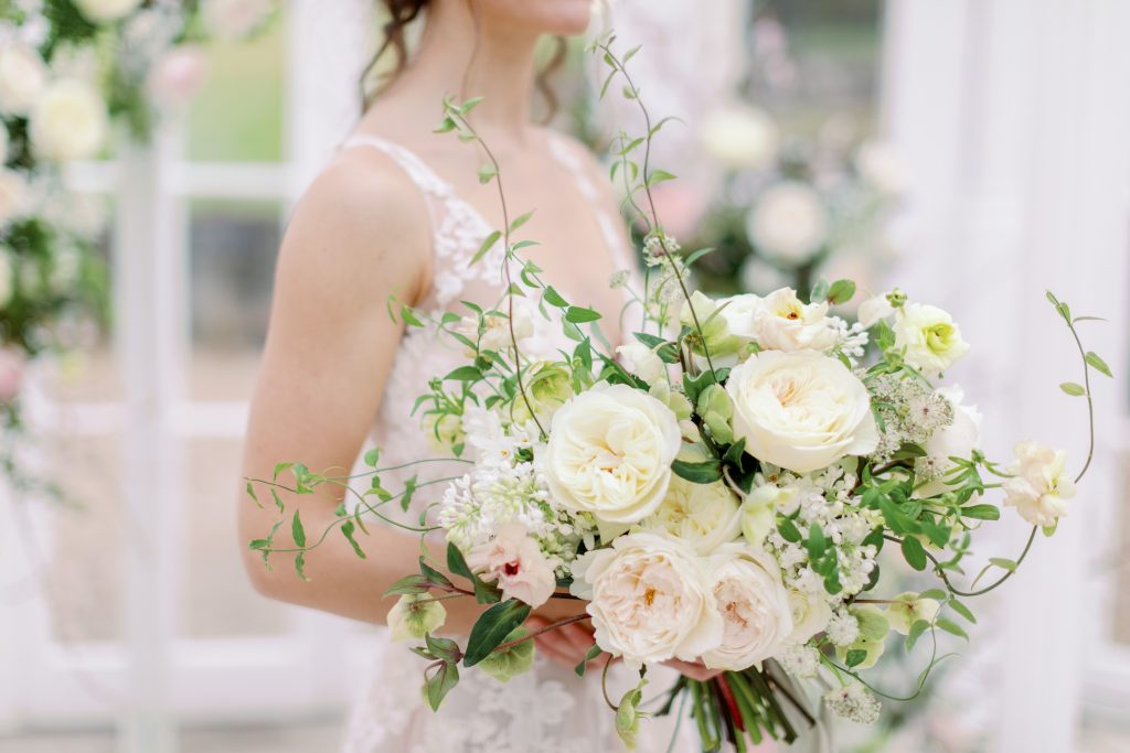 Bridal Bouquet with David Austin Garden Roses