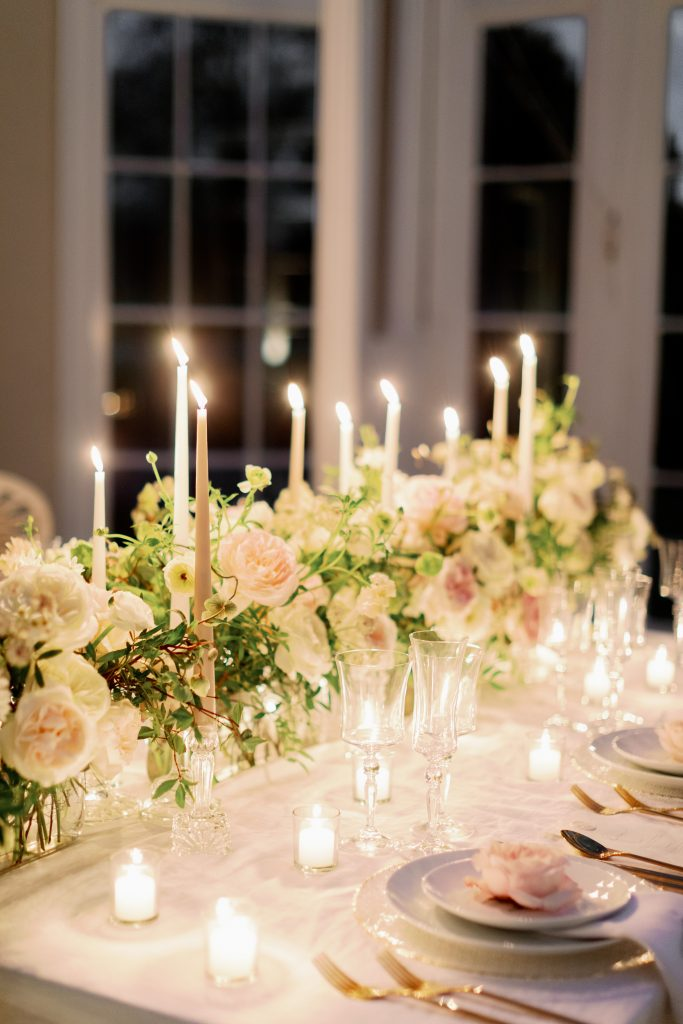 Luxury Tablescape with David Austin Garden Roses